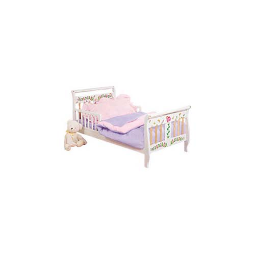 Pink Lavender Reversible Toddler Bedding