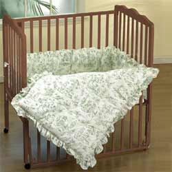 Toile Port a Crib Bedding