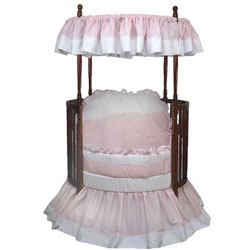 Darling  Pique Round Crib Bedding