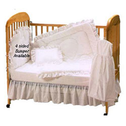 Carnation Eyelet Crib bedding