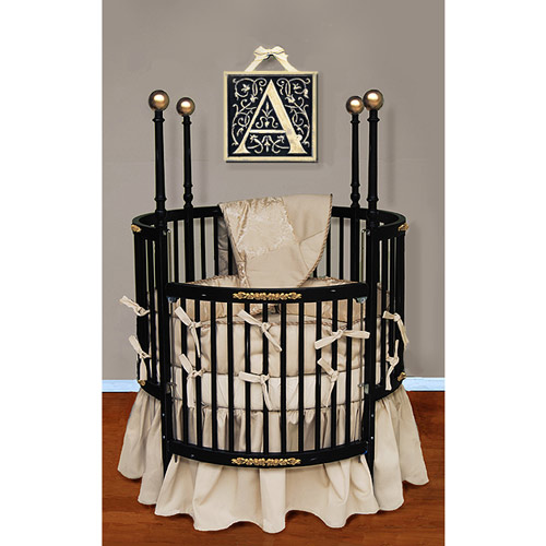 Royal Brocade Round Crib